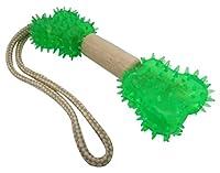 トーエートレーディング 犬用おもちゃ Earthy Pawz(アーシーポウズ) デンタルウッドダンベル ボーンロープ