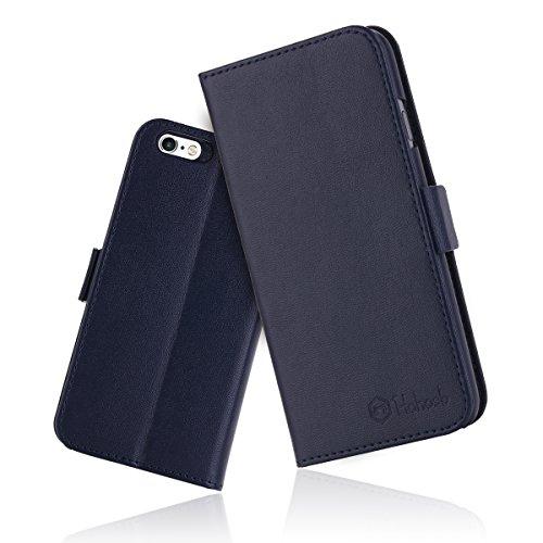 iPhone6s ケース 手帳型 iPhone6カバー 財布型 サイドマグネット式 カード収納 スタンド機能 高級PUレザー iPhone6ケース 耐衝撃 アイフォン6 手帳型ケース 全面保護 耐摩擦 人気 おしゃれ Hohosb(iPhone6s/6用, ブルー)
