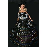 Black Christmas Barbie Sized Doll Dress