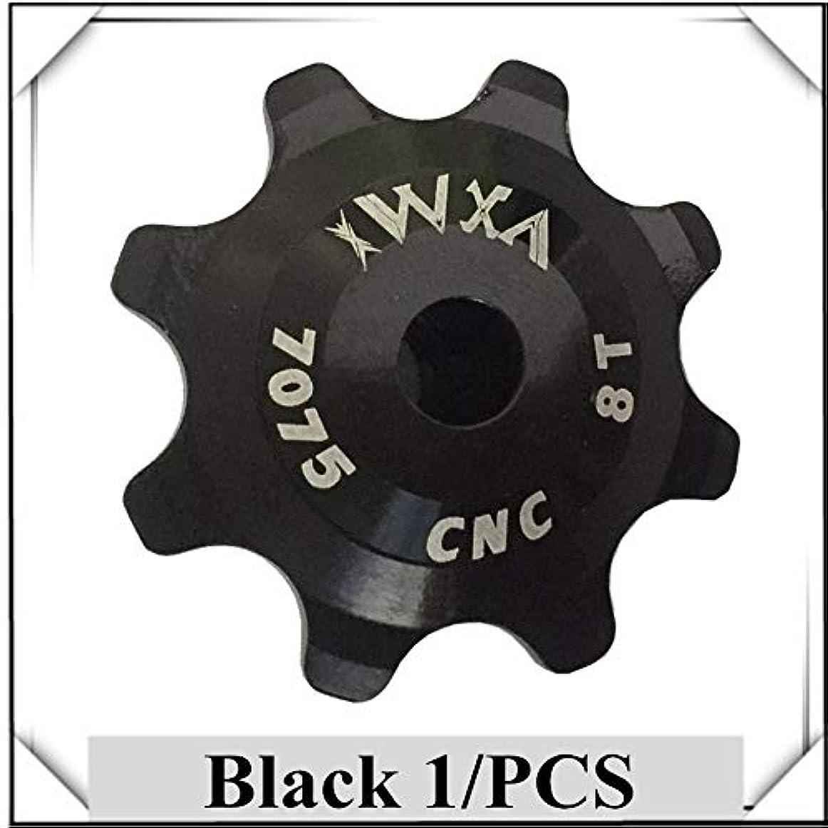 自発的教会閃光Propenary - Bicycle Ceramics Jockey Wheel Rear Derailleur Pulley 8T 7075 Aluminum alloy Cycling guide pulley bearing bicycle parts [ Black ]