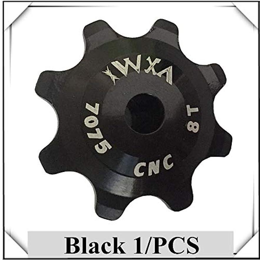 細胞形成教えPropenary - Bicycle Ceramics Jockey Wheel Rear Derailleur Pulley 8T 7075 Aluminum alloy Cycling guide pulley bearing bicycle parts [ Black ]