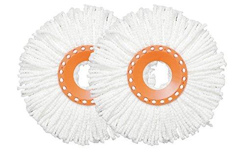 アイリスオーヤマ 回転モップ スペアヘッド(2個入り) KMO-K2P オレンジ