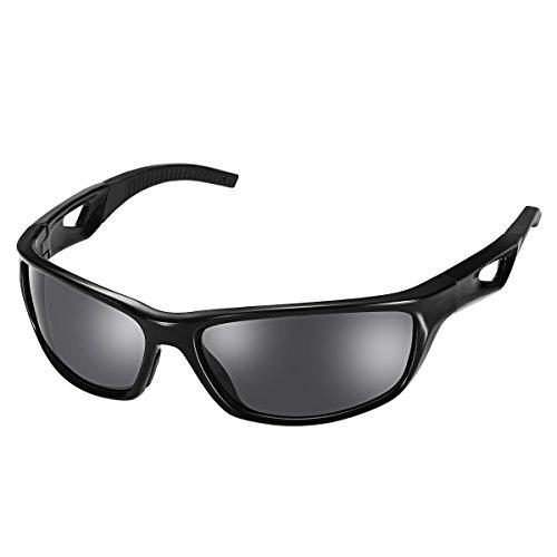 サングラス QTuo 偏光レンズ スポーツサングラス 超軽量 UV400紫外線カット ゴルフ 釣り ドライブ 自転車 ランニング適用 レディース メンズ 男女兼用 メガネ 一年保障付き