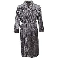 FITYLE Flush Long Bathrobe Cozy Fleece Cotton Bath Night Robe Dressing Gown for Women Men