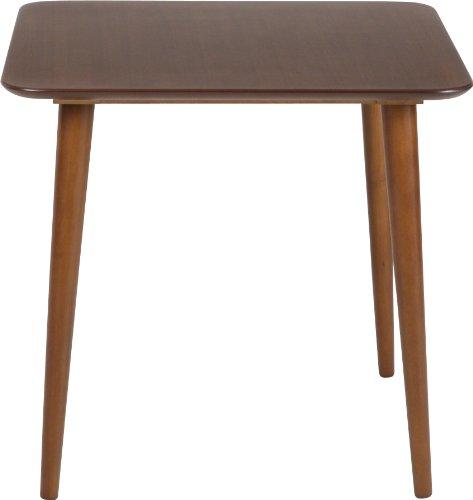 不二貿易 ダイニングテーブル エクレア 幅75×奥行75×高さ70cm ダークブラウン 92601