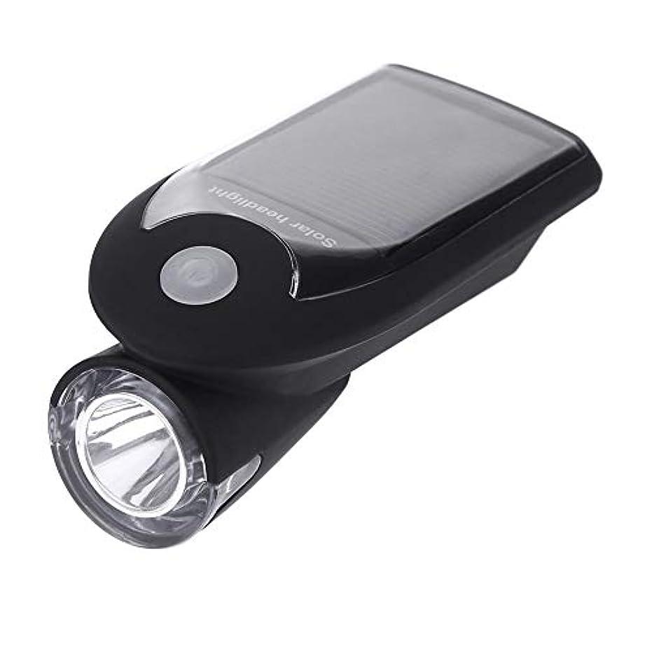 備品弁護慣習Runcircle 自転車LEDフロントライト 自転車ヘッドライト ソーラー充電 USB充電 ソーラーサイクル 押しスイッチ超小型LED懐中電灯 ヘッドライト 自転車 防水 防災 軽量 ライトホルダー付き