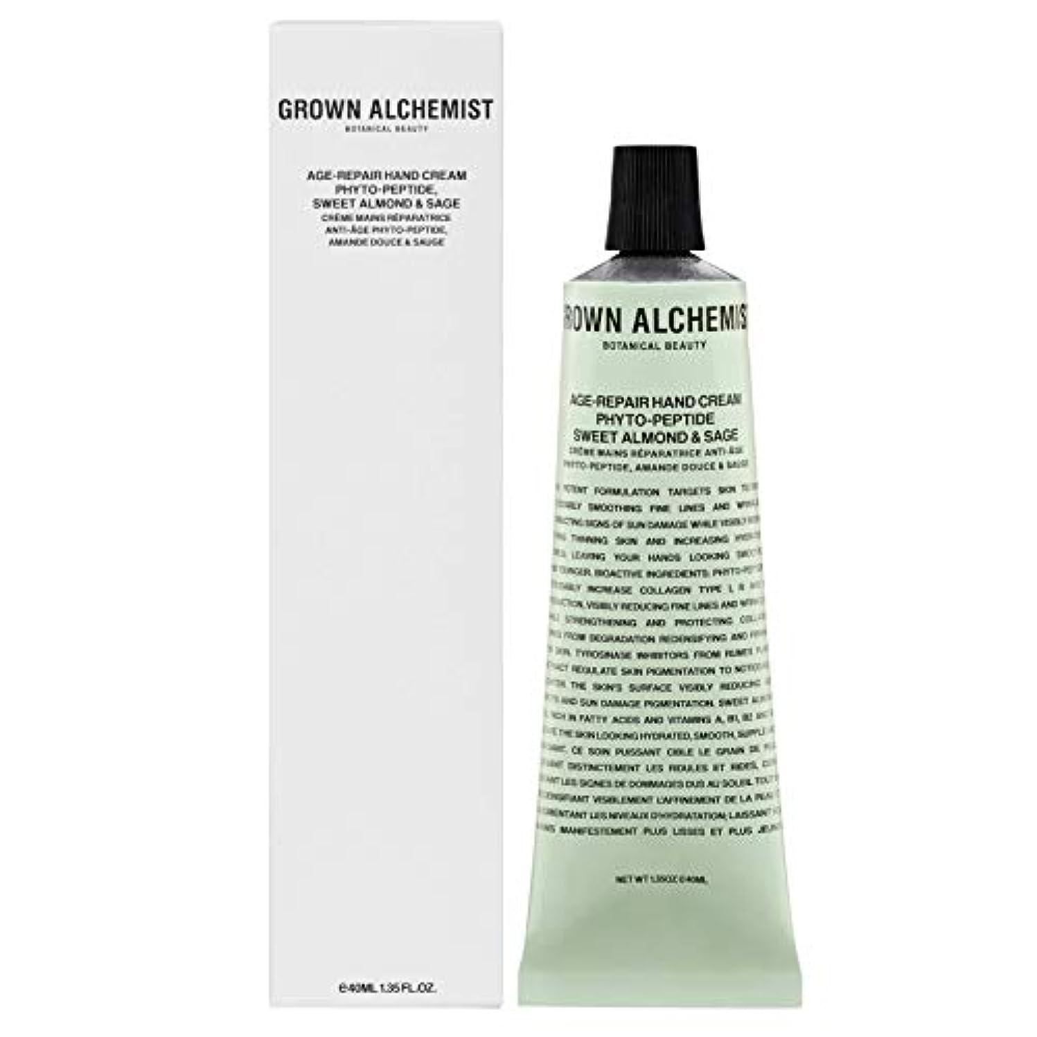 カセット電気取得Grown Alchemist Age-Repair Hand Cream - Phyto-Peptide, Sweet Almond & Sage 40ml/1.35oz並行輸入品