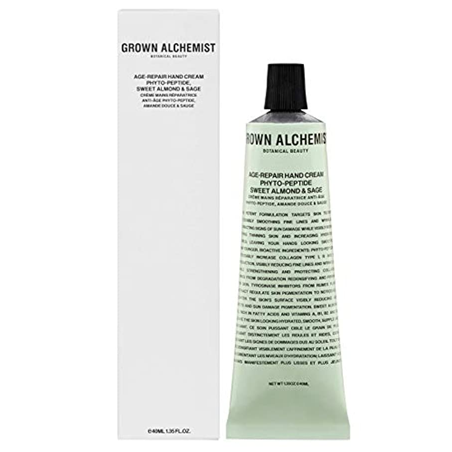 排他的視線間隔Grown Alchemist Age-Repair Hand Cream - Phyto-Peptide, Sweet Almond & Sage 40ml/1.35oz並行輸入品