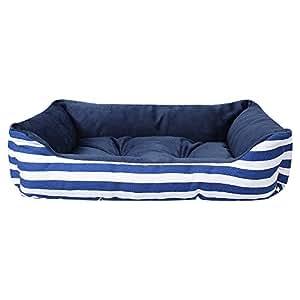 Ninkipet(ニンキペット)犬 ベッド 洗えるペット用ベッド ペット用ソファ クッション 夏冬 通年利用 丸洗いできる 大中小型犬/猫用 (M, ブルー)