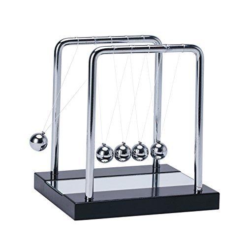 フレーム ニュートン ゆりかご バランス クレードル クレドール ボール インテリア おもちゃ 玩具 物理学 (Medium-13.5 x13 cm)