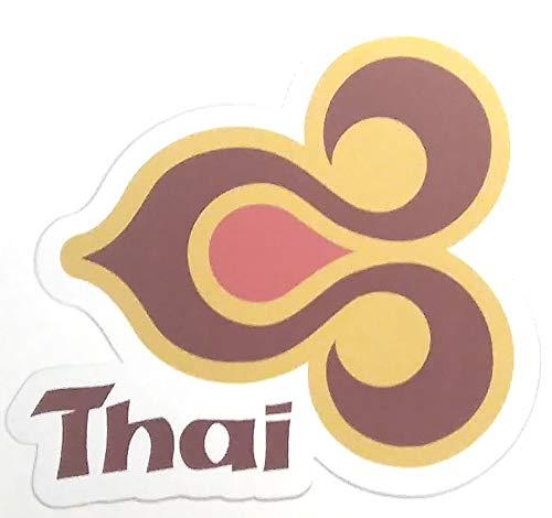 航空ステッカー タイ国際航空 耐水加工紙シール スーツケース...