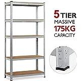Yaheetech Adjustable Garage Shelves Warehouse Storage Rack 90x40x180CM
