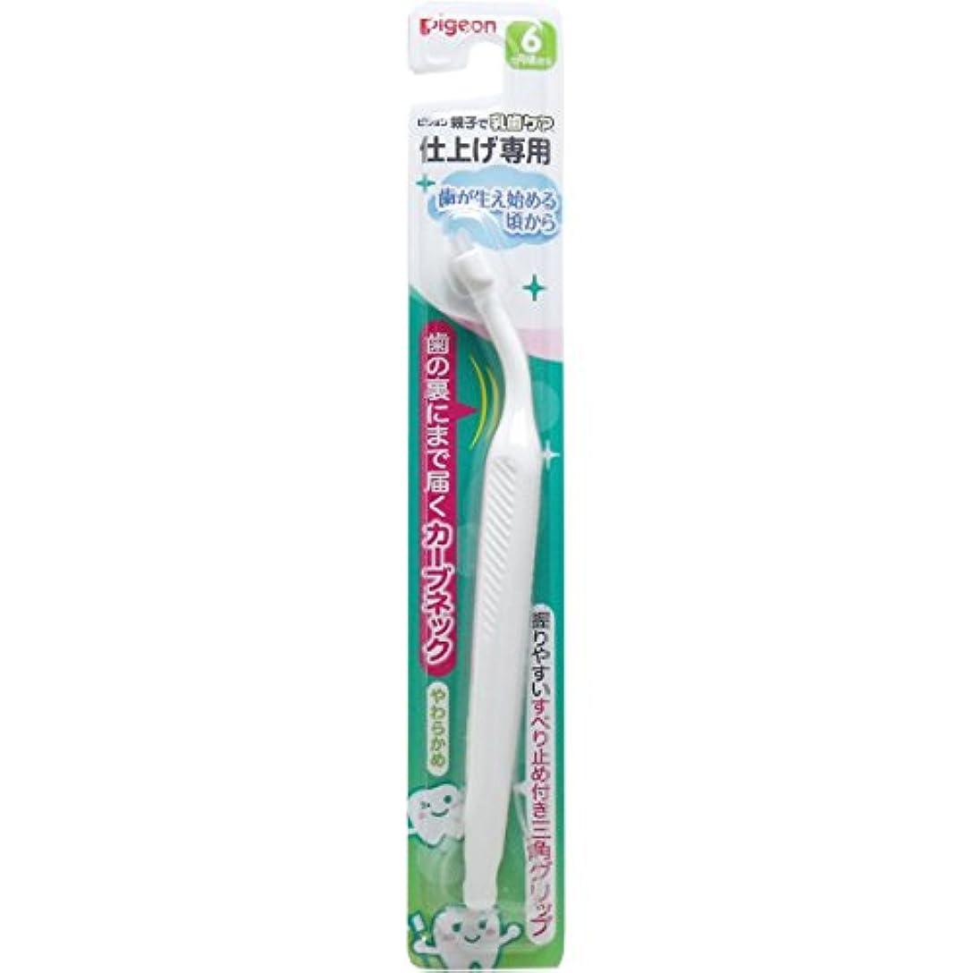 剪断石鹸することになっているピジョン 親子で乳歯ケア仕上げ専用 歯が生え始める頃から 6ヵ月-1.5才 ×6個セット