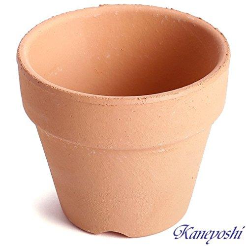 鉢 三河焼 KANEYOSHI 【日本製/安心の国産品質】 陶器 植木鉢 素焼き鉢 2.5号