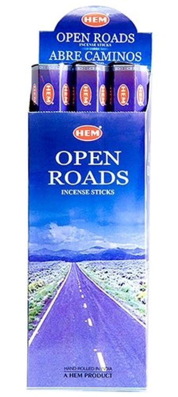 レンズ尊敬するによるとHEM(ヘム)社 オープンロード香 スティック OPEN ROADS 6箱セット
