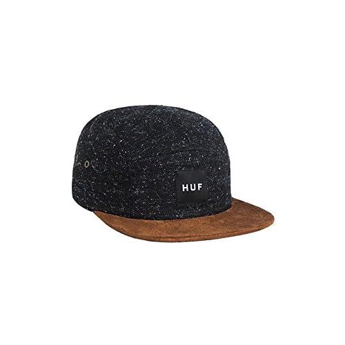 (ハフ) HUF キャップ 帽子 ツイード スケート TWEED VOLLEY CAP 【huf276】 ワンサイズ BLACK [並行輸入品]