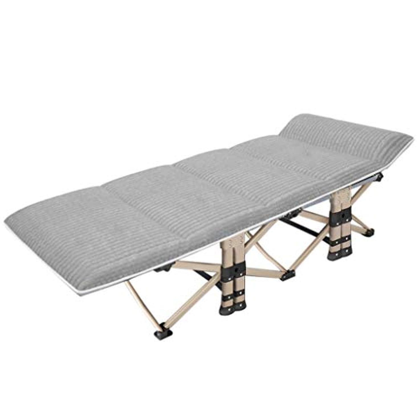 最終的に開始守るRUIMA 折りたたみベッドリクライニングシングル昼休み折りたたみベッドホームシンプルな多機能夏ポータブル大人ライン。 (色 : グレイ ぐれい)