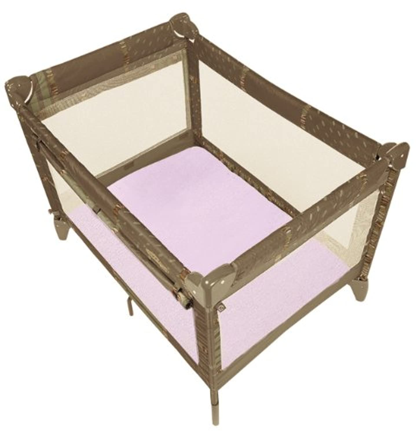 Kushies Certified Organic Play Pen Fitted Sheet, Pink by Kushies