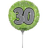 Creative Converting air-filled Age 30バルーンスティックとジョイナ18、インチ、グリーン
