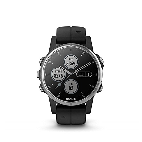 GARMIN(ガーミン) fenix 5s Plus Black 音楽再生機能 マルチスポーツ型GPSウォッチ 最大6日間稼働 【日本正規品】
