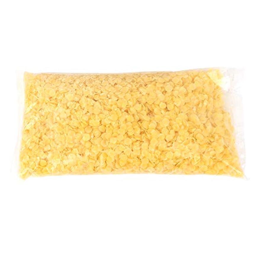天然ミツロウ、500g黄白食品グレードミツロウペレット純粋な天然ミツロウ化粧品手仕事用石鹸/口紅/キャンドル/バームス/ポリッシュ/クリーム、刺激なし(黄)
