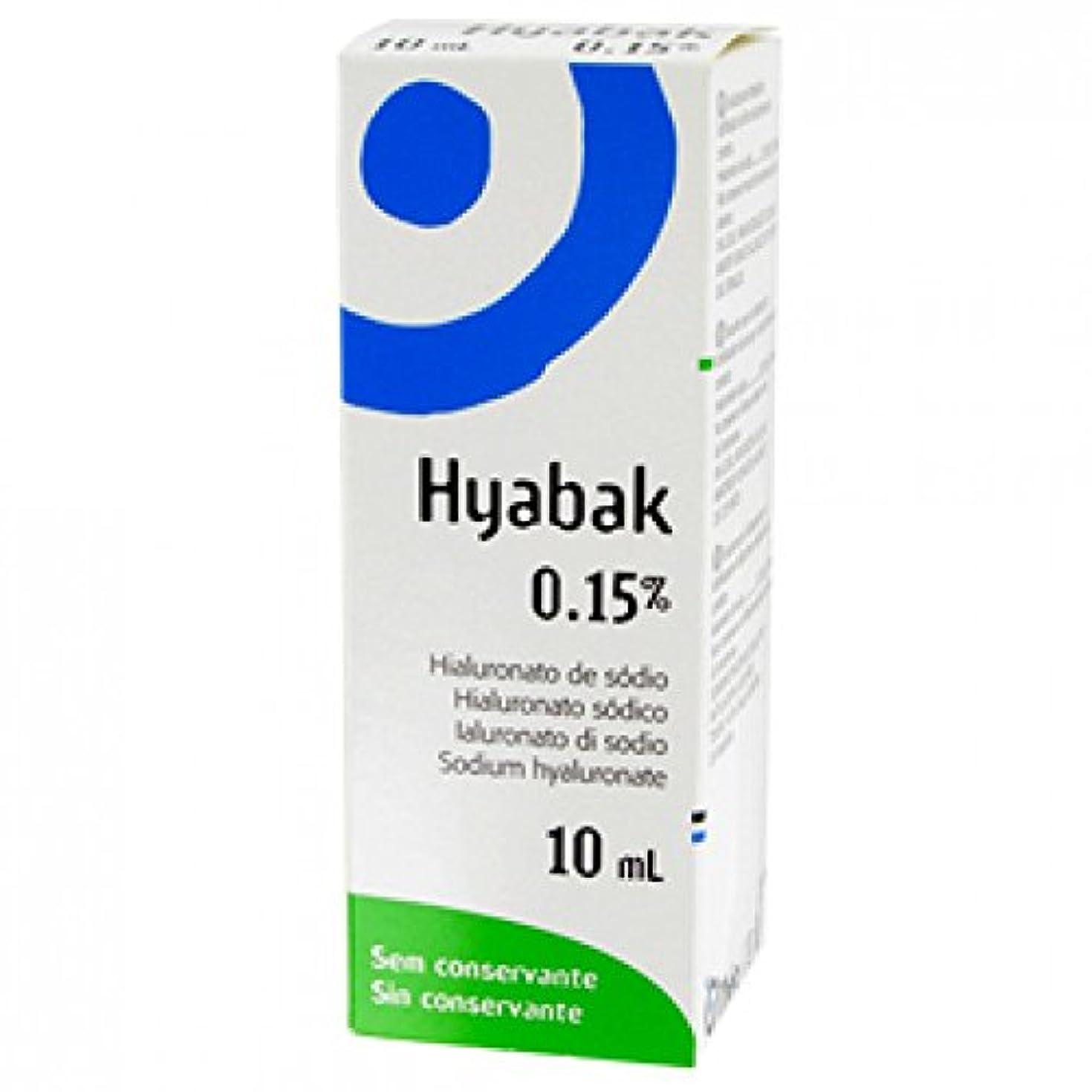 広告スラダムめまいがHyabakソリューションOftalinica 0.15%の10ミリリットル