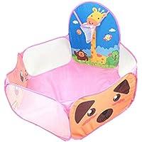 Dovewill 赤ちゃん 軽量 折り畳み 可愛い ポップアップ   プレイテント  屋内屋外  楽しい 遊び プレイハウス ギフト 全3色選ぶ  - ピンク