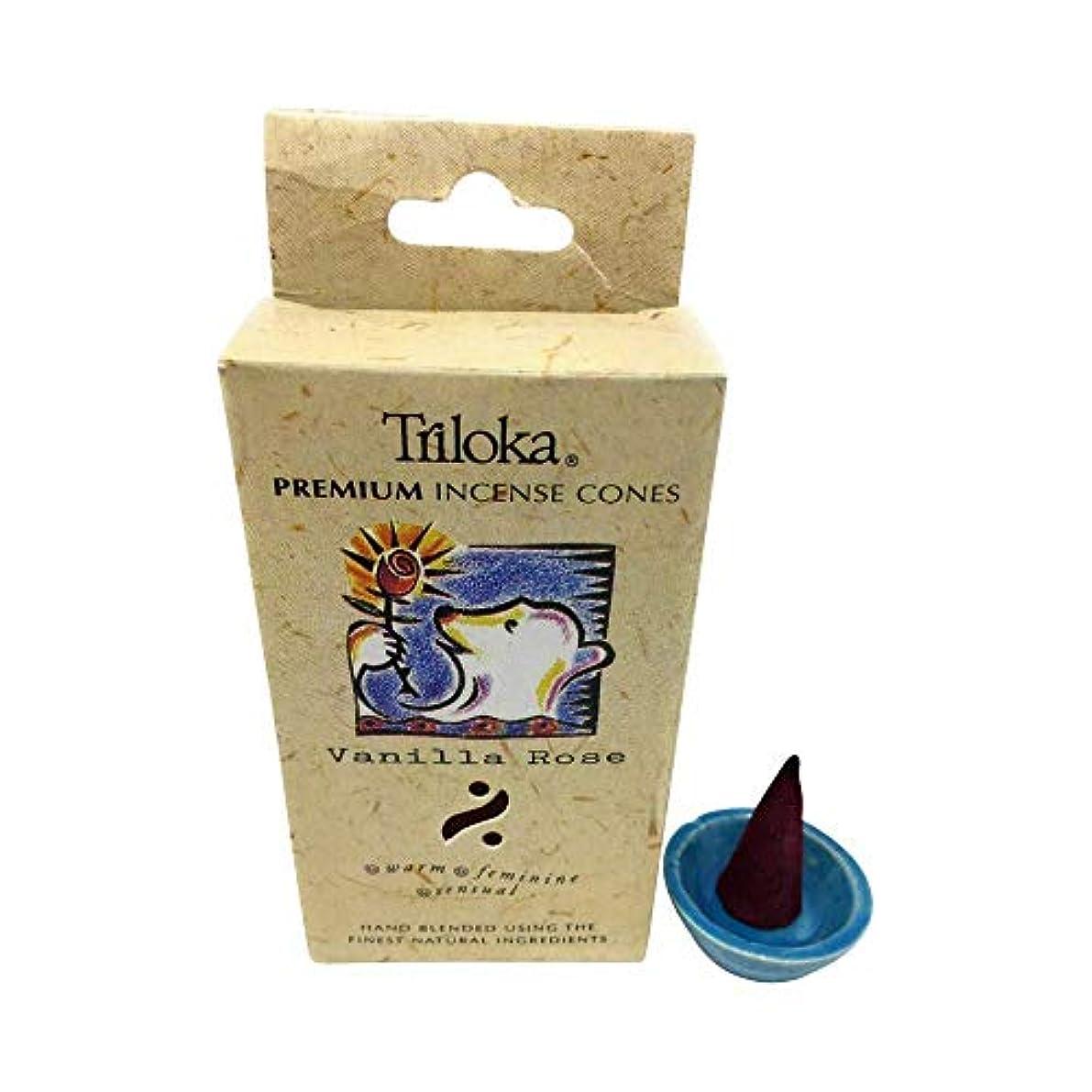 合金乱闘に付けるVanilla Rose - Triloka Premium Cone Incense by Triloka Premium Cones [並行輸入品]