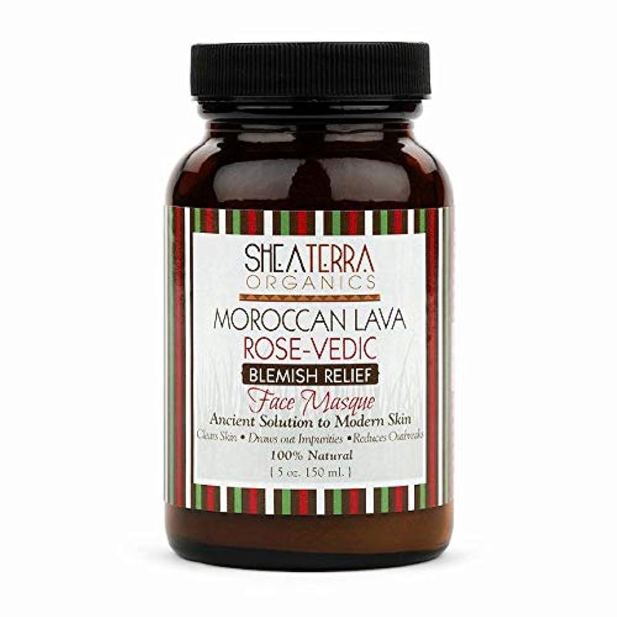 夕食を作る考慮家畜シアテラオーガニックス(Shea Terra Organics) モロカン ラバ&ローズ フェイス マスク [並行輸入品]