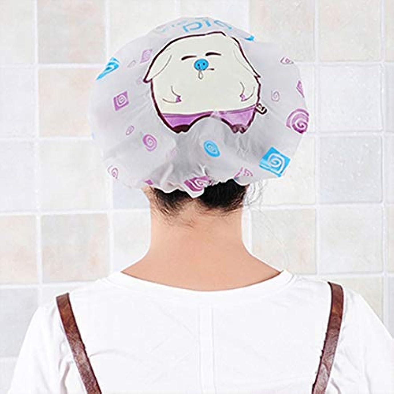 見通し風が強い受け取るSwiftgood 女性のスパ、家庭用、ホテルおよび美容院のためのプラスチックシャワー?キャップの大きく弾力がある厚いバス帽