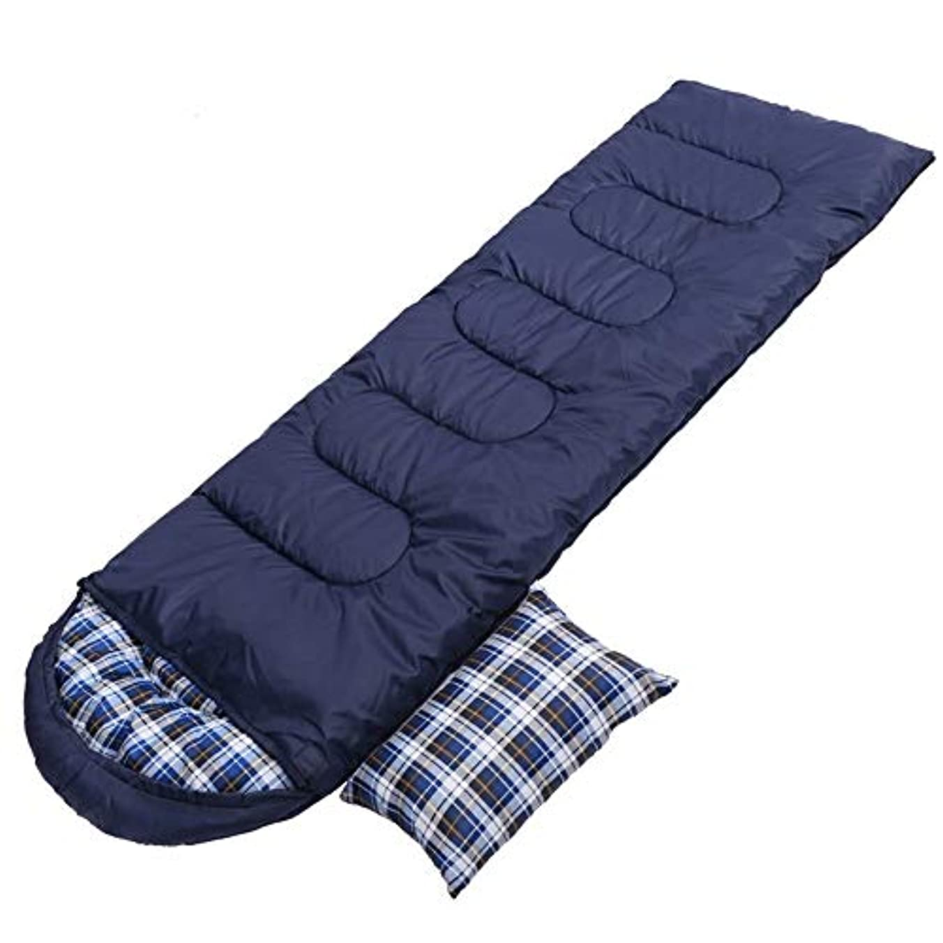 高める修道院蘇生するIAIZI 屋外の寝袋秋冬旅行キャンプ厚い暖かい黒ダークブルー (Color : A, Size : A)