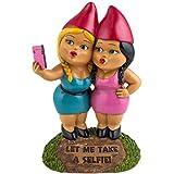 Selfie Sisters Garden Gnome