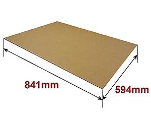 ボックスバンク ダンボール 板・工作・アート用 (A1 841×594mm) 1.5mm厚 10枚セット FB19-0010