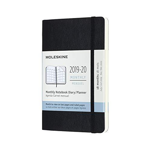 モレスキン手帳 2019年7月始まり 18ヶ月マンスリーダイアリー ソフトカバー ポケットサイズ ブラック DSB18MN2Y20