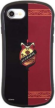 グルマンディーズ ディズニー ツイステッドワンダーランド iPhone8/7/6s/6(4.7インチ)対応 ハイブリッドガラスケース スカラビア レッド DN-699D