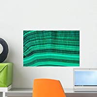 Malachite Mineral Wall Mural by Wallmonkeys Peel and Stick Graphic (18 in W x 12 in H) WM70704 [並行輸入品]
