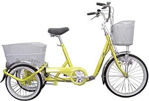 ミムゴ 20インチ三輪自転車3段ギア付 ノーパンクタイヤ仕様 スイングチャーリー(イエロー) MG-TRF203SWN-YE