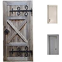 SHOW ドア用のステッカー 3D レトロ 古い 木製 ドア 防水 防汚 傷止め DIYステッカー