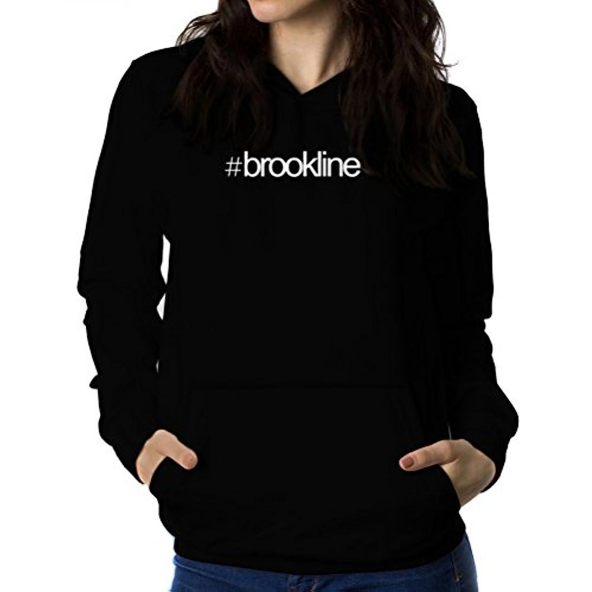 鈍い付録電圧Hashtag Brookline 女性 フーディー