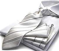 (ミチコロンドン)MICHIKO LONDON 礼装ネクタイ ポケットチーフ ギフトBOXセット M-CPN-166