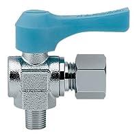 水栓材料 カクダイ アングル型ミニチュアボールバルブ 【651-856-1/4X6.0】