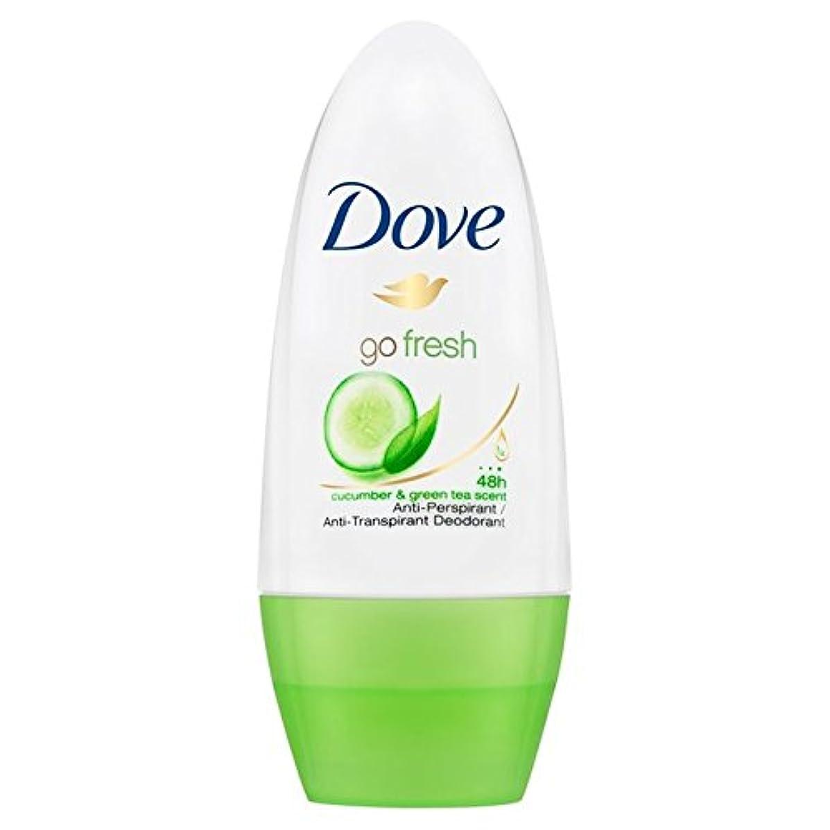 やりがいのある病なパフDove Go Fresh Cucumber Roll-On Anti-Perspirant Deodorant 50ml - 新鮮なキュウリロールオン制汗デオドラント50ミリリットルを行く鳩 [並行輸入品]