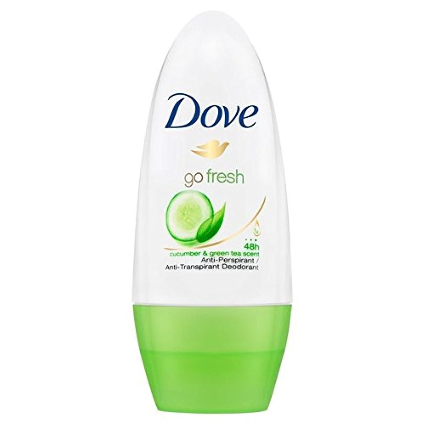 Dove Go Fresh Cucumber Roll-On Anti-Perspirant Deodorant 50ml - 新鮮なキュウリロールオン制汗デオドラント50ミリリットルを行く鳩 [並行輸入品]