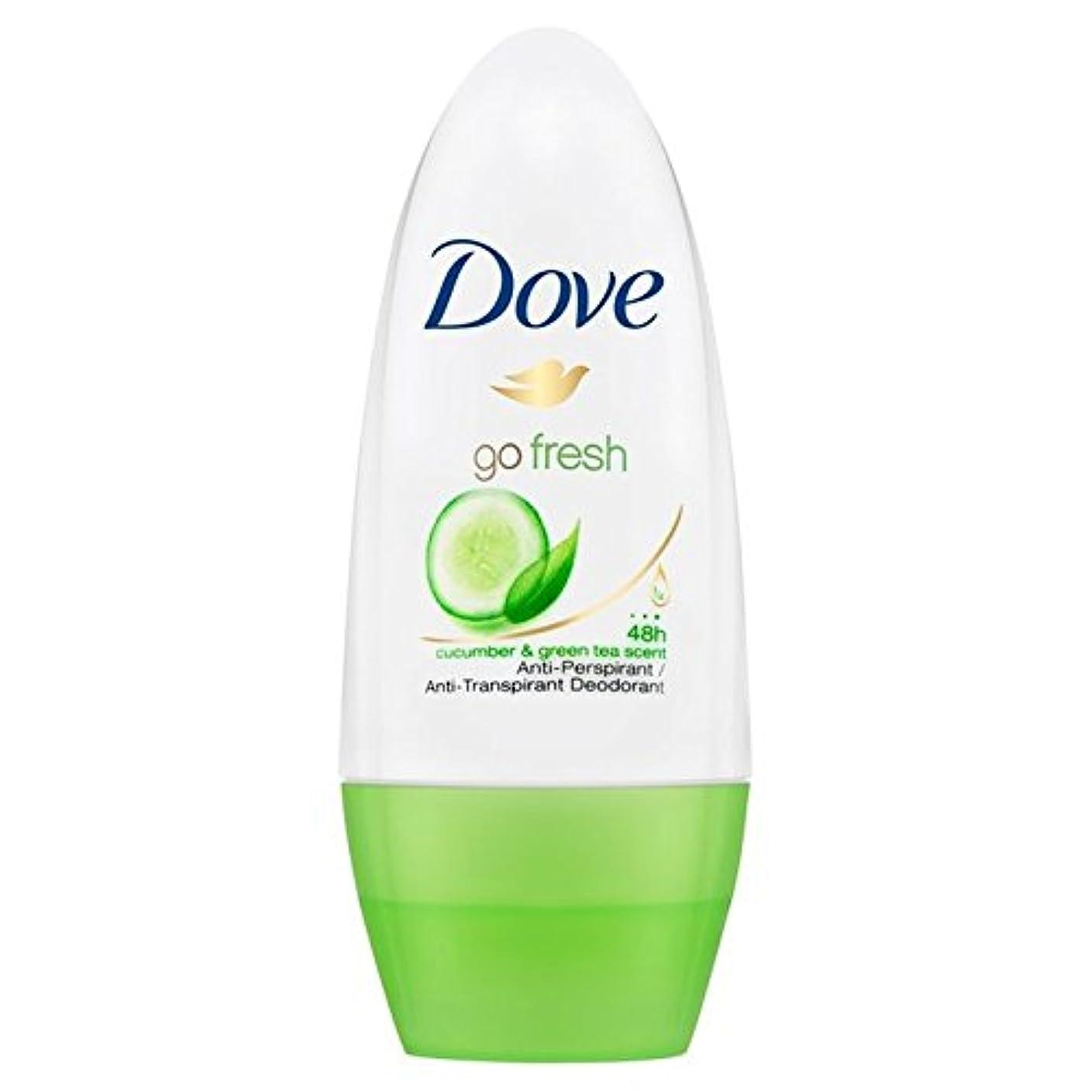 チロお香誰もDove Go Fresh Cucumber Roll-On Anti-Perspirant Deodorant 50ml - 新鮮なキュウリロールオン制汗デオドラント50ミリリットルを行く鳩 [並行輸入品]