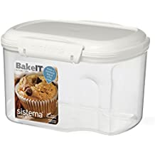 Sistema Bake It Bakery 1.56L Sugar Container, Clear
