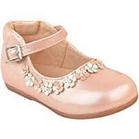 Fashion Thirsty Girls Kids Childrens Low Heel Party Wedding Mary Jane White Sandals Shoes Size