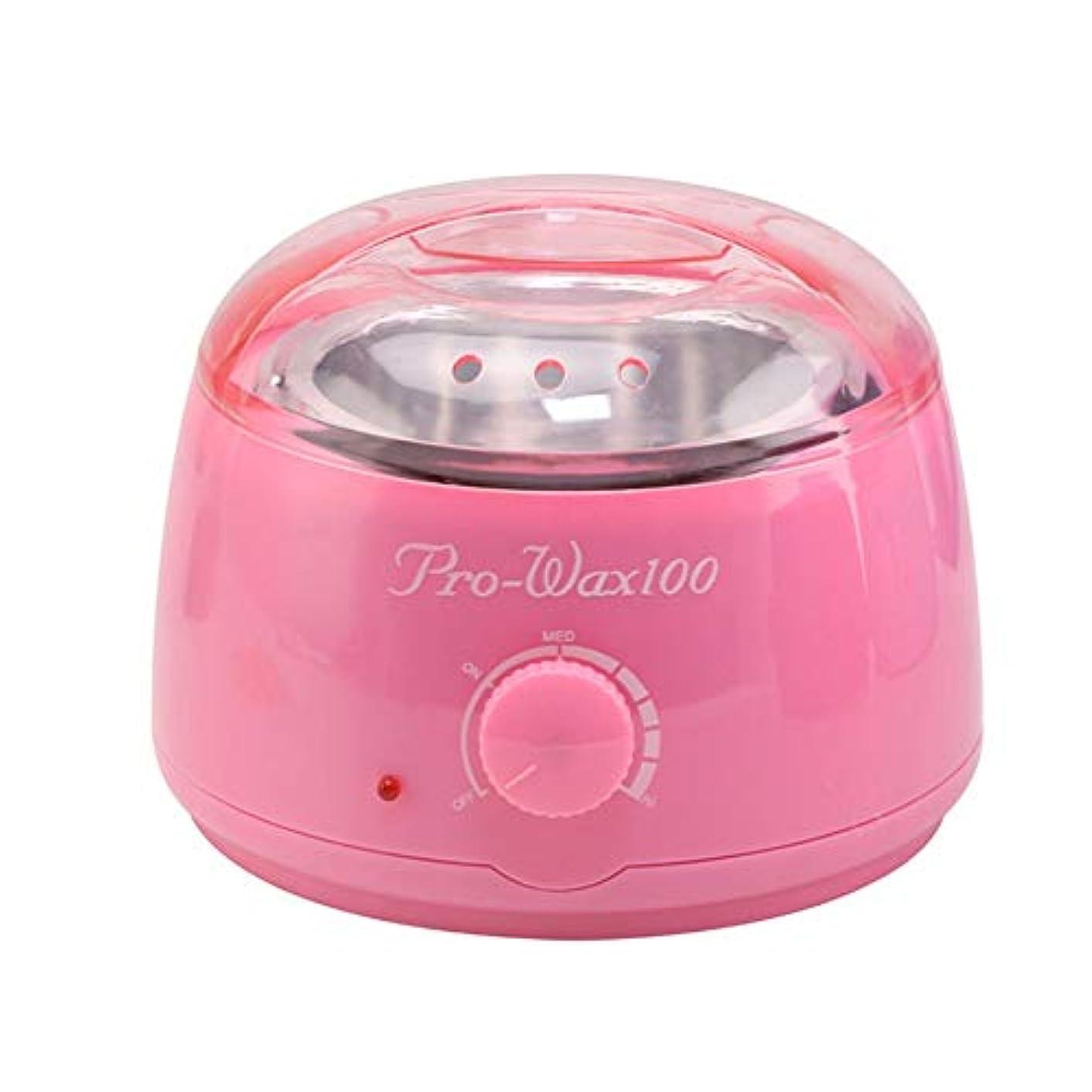 絶対のモバイルアサープロフェッショナル暖かいワックスヒーター脱毛ツールミニスパ手足パラフィンワックス機ボディ脱毛ワックス豆ホットワックス脱毛脱毛ワックス機500CC (Color : Pink)