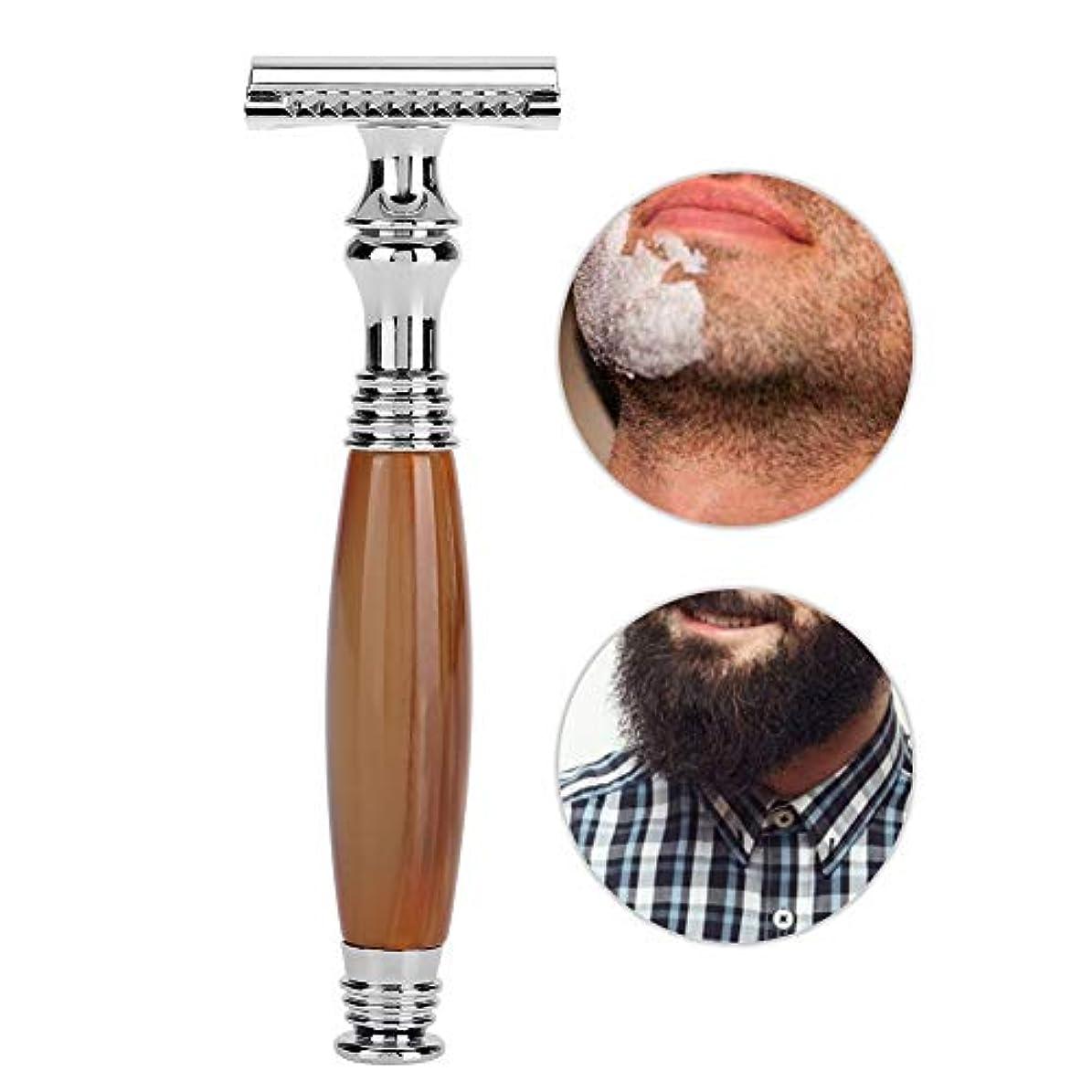 姿勢リーガン電球手動メンズシェーバー、剃刀 メンズシェーバー 6種類の古典的な様式の木のハンドルの二重刃の手動かみそり安全 防水肌に優しく 使いやすい 快適な剃り (5#)