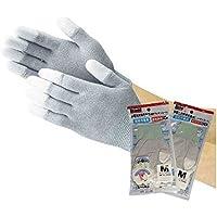 2双セット TRUSCO 静電気対策用手袋(指先ウレタンコート) Mサイズ2パックセット