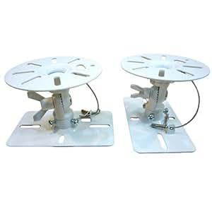 スピーカー天吊り金具 2個1組 ホワイト SWB-ACE-101W